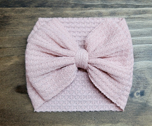 Pink Bow Child Headband