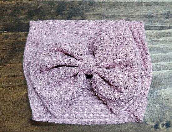 Mauve Bow Child Headband