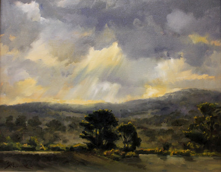 Fryer Range and Dramatic Sky