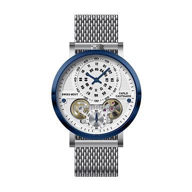 Carlo Cantinaro CC1004GM013 Montre Hommes Quartzmatic GMT