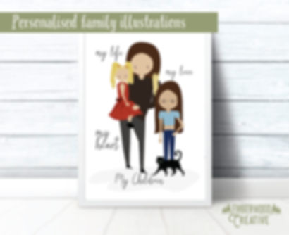 Family Illustrations by Emberwood Creative