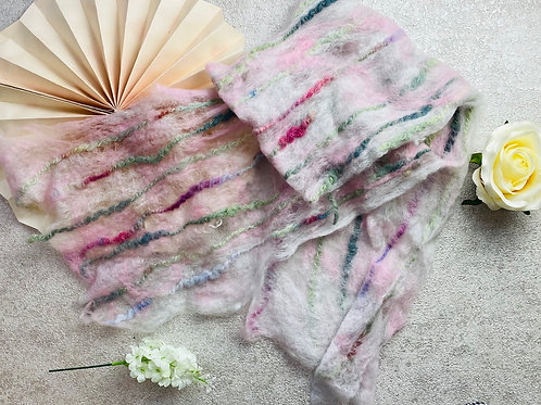 Handmade Marino Wool Felt Scarf