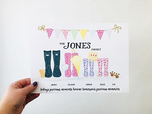 Welly Prints - Family of 4