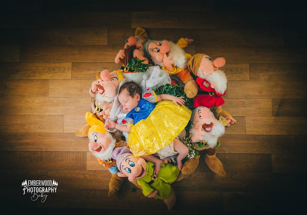 Snow white newborn photoshoot