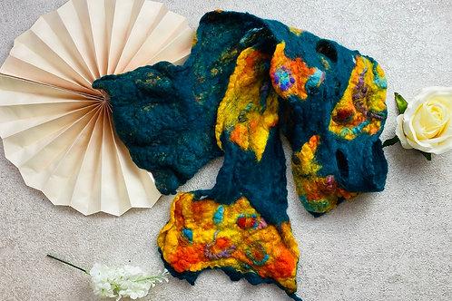 Handmade felt scarf