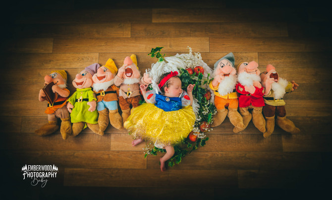 Tesni's Snow White Newborn Photoshoot