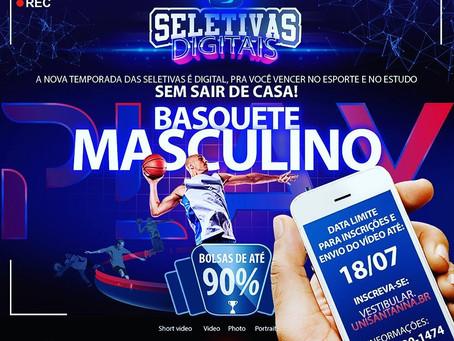Uni Sant'Anna realiza seletiva virtual para sua equipe masculina de basquete