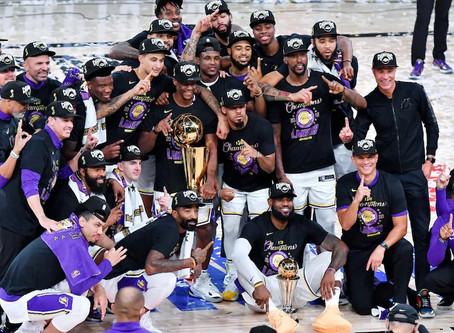 Los Angeles Lakers é o campeão  2019/20 da NBA