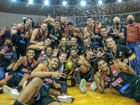 Sesi Franca Basquete conquista o tricampeonato Paulista Masculino