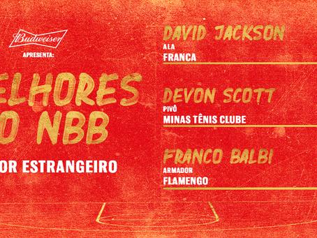 Balbi, Jackson e Scott concorrem ao prêmio de Melhor Estrangeiro do NBB 2019/2020