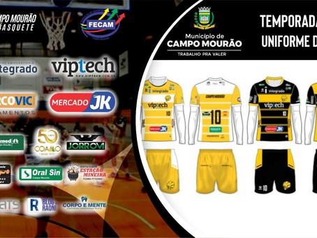 Campo Mourão Basquete apresenta uniformes para temporada de 2020