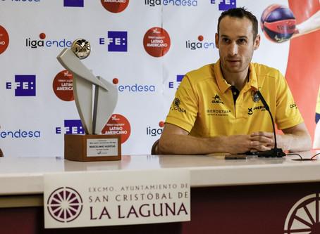 """Marcelinho Huertas premiado """"Melhor Jogador Latino-americano da Liga ACB"""""""