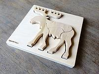 animal puzzle -elk 01.JPG
