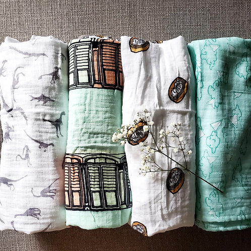 Mei's Own - Baby Swaddle Blanket