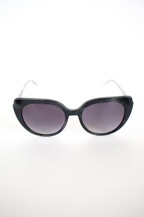 Truth&All - Dolphin Sunglasses: Black & Crystal TADC3