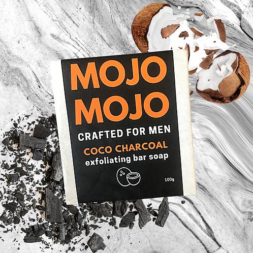 Mojomojo Bar Soap for Men - Coco Charcoal
