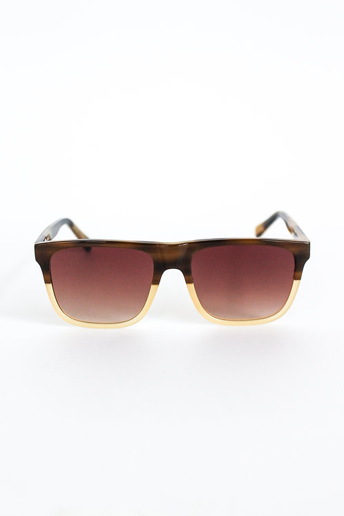 Truth&All - Marlin Sunglasses: Brown Wave TAMC3