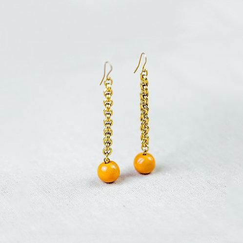 Artisan & Fox - Tunda Earring (Orange Poppy)