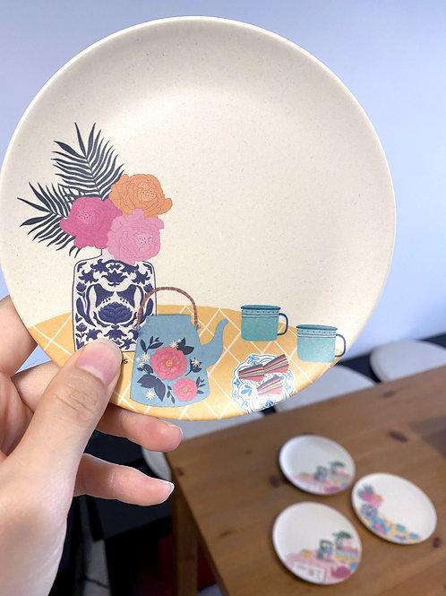 Yenidraws - Bamboo Dining Plates (6 inch - Set of 2)