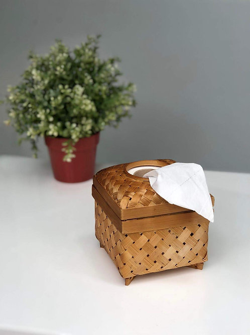 The Handmade Romantics - Bamboo Tissue Holder