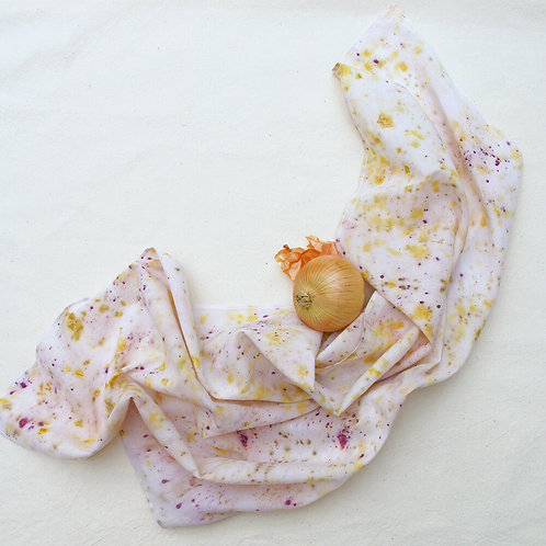 MELO handmades - Botanical Dyed Cotton Square Scarf