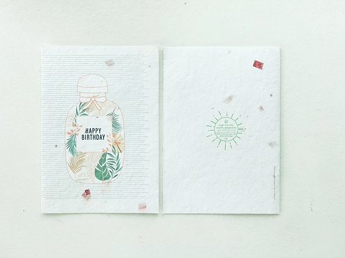 Left-handesign - Bij Birthday Card