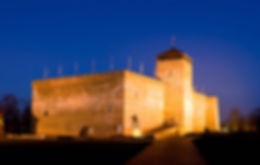The castle of city Gyula in twilight_800