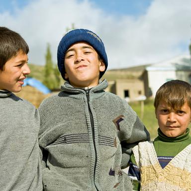 Kids in Xinaliq