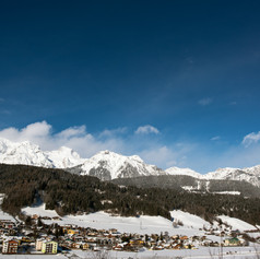 A Dachstein bércei Schladmingnál. Alpok, Ausztria.