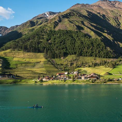 Lago di Vernago, Dél-Tirol, Olaszország