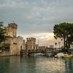 A Scaligeri Erőd, Sirmione, Garda-tó, Olaszország