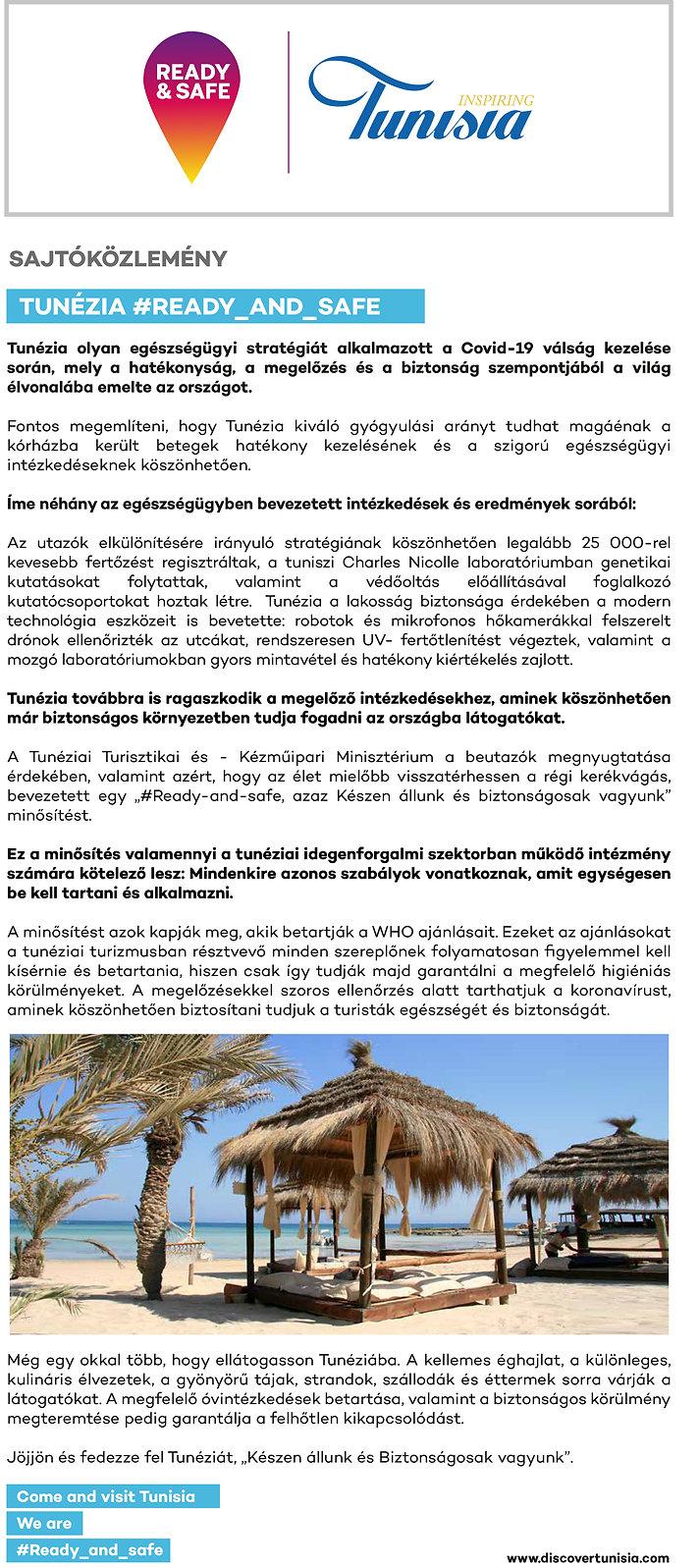 Sajtokozlemeny - Tunezia Idegenforgalmi