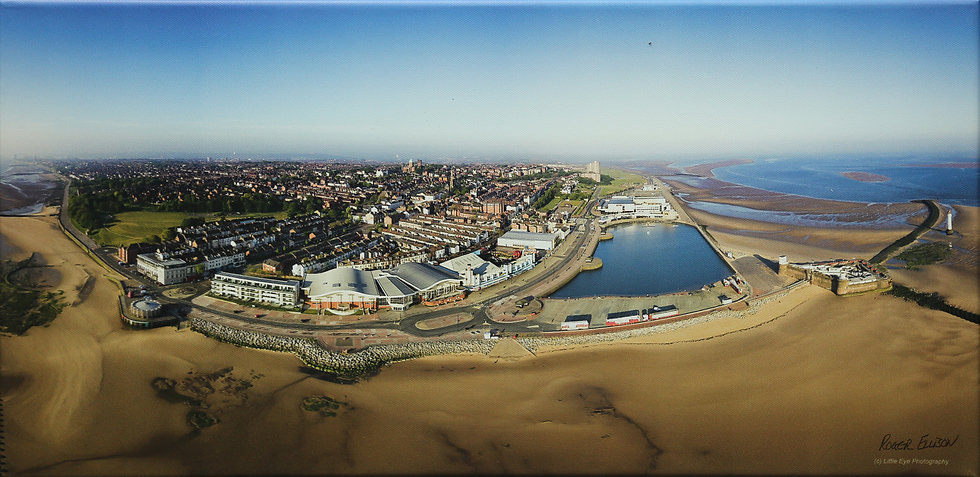 """Panorama of New Brighton"" by Roger Ellison"