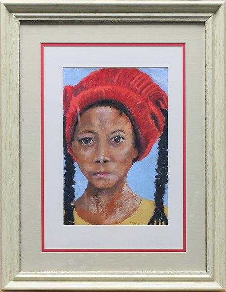 """""""Girl in Red Hat"""" by Pauline Murphy"""
