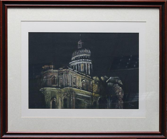 """""""St Paul's by Night"""" by Pauline Murphy"""