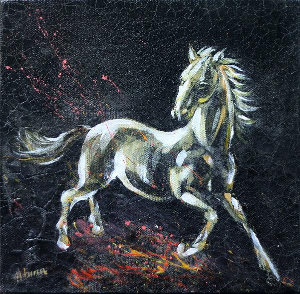 """""""Horse 2"""" by Albina Kumirova"""