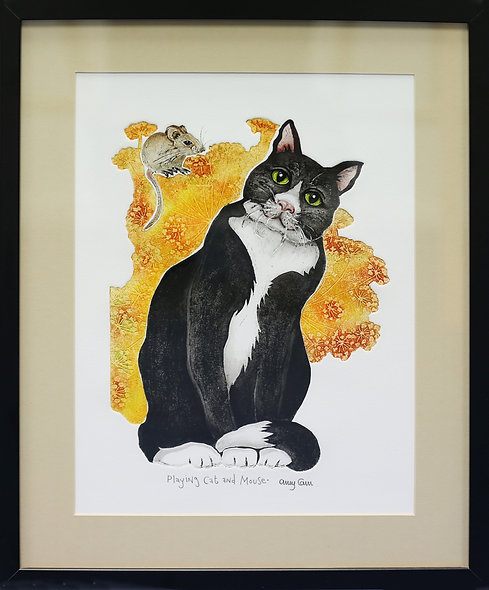 """""""Cat and Mouse"""" by Amy Cain"""