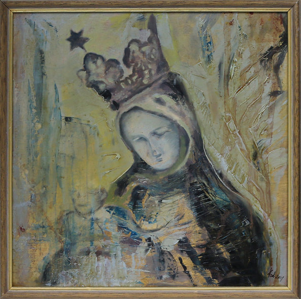"""Mary with Lost Jesus"" by Katarzyna Miturska"