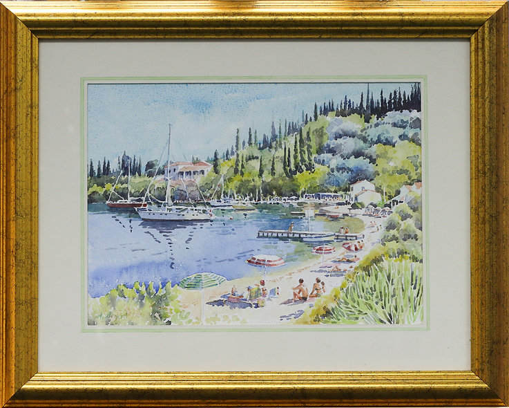 "Summer Holiday - Corfu"" by Angela Argent"