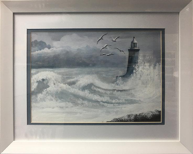 """""""Stormy Sea"""" by Raymond Woodward"""