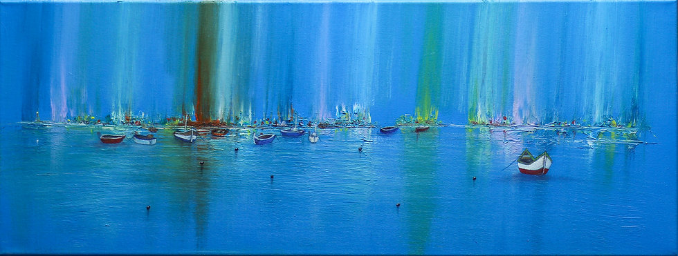 """Blue Aurora Harbour"" by Simon Kilgallon"