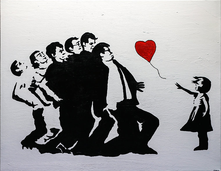 """""""Banksy Madness"""" by Nathan Haberla"""