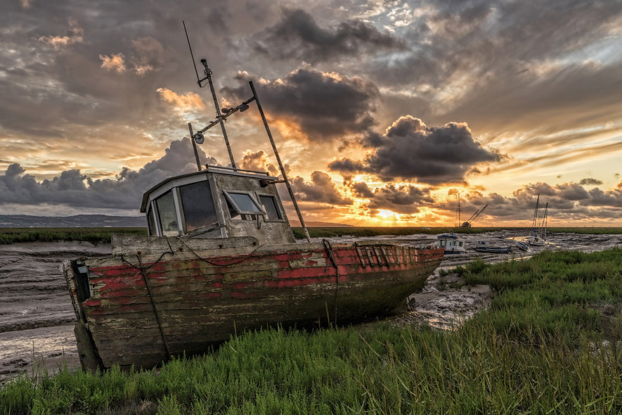 """Dee Estuary sunset"" by George Evans"