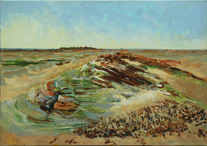 """Sand and Sandstone - Little Eye to Hilbre"" by David Venables"