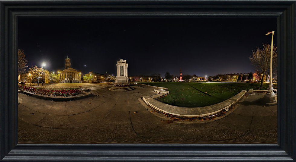 """""""Hamilton Square by Night"""" by Nadia Parsons"""
