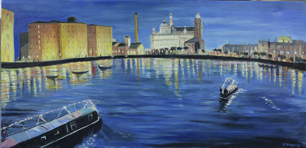 """Long Boat, Albert Dock"" by Pat Barclay"
