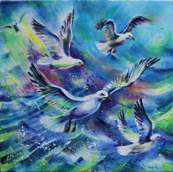 """Seagulls"" by Albina Kumirova"