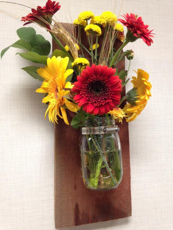 DIY Barn Board Vases