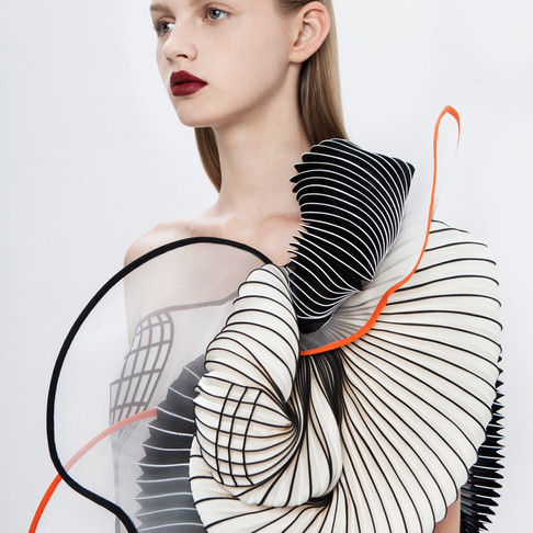 'Hard Copy' 3D Couture by Noa Raviv