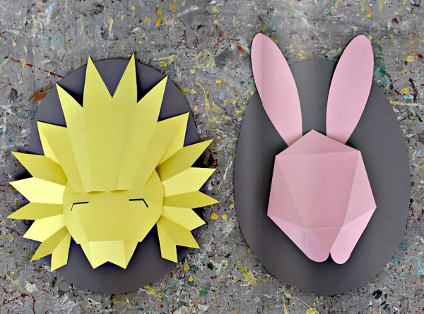 paper animals masks